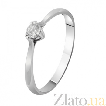 Золотое кольцо с бриллиантом Матильда KBL--К1018/бел/брил