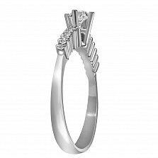 Кольцо из белого золота Ненси с бриллиантами