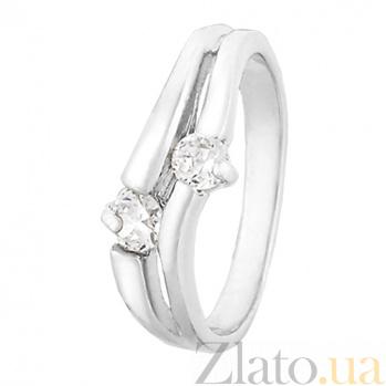 Серебряное кольцо с фианитами Отражение 000025692