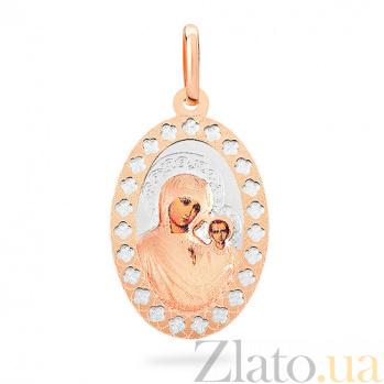 Ладанка из золота с эмалью Дева Мария с Младенцем SUF--422706К