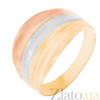 Золотое кольцо Ивис в комбинированном цвете 000023938