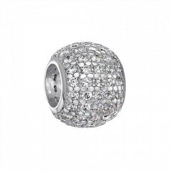 Срібний шарм з цирконієм 000116396