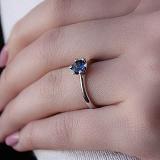 Золотое кольцо Миарин с сапфиром и бриллиантами