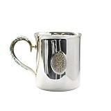Серебряная чайная чашка Прованс с эмалью