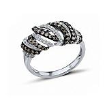 Кольцо из белого золота Нерия с бриллиантами