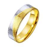 Золотое обручальное кольцо Река любви