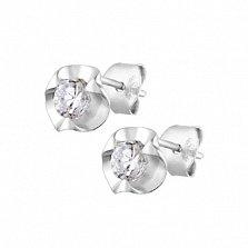 Серебряные сережки с цирконием Джоди