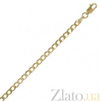 Серебряная цепочка Ариан с позолотой, 60 см 000027437