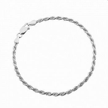 Серебряный браслет с родированием, 2,5 мм 000027566