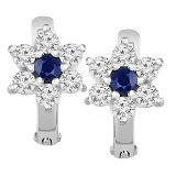 Серебряные серьги с синим фианитом Аэлита
