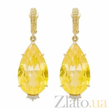 Серьги Ashkenazi из желтого золота с гелиодорами и бриллиантами E-JR-E-d48/g2