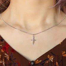 Серебряный крестик Сила веры