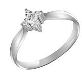Кольцо из белого золота Флер с бриллиантами