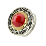 Серебряное кольцо с кораллом Джоконда