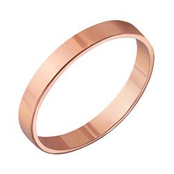 Золотое обручальное кольцо Классический стиль в красном цвете