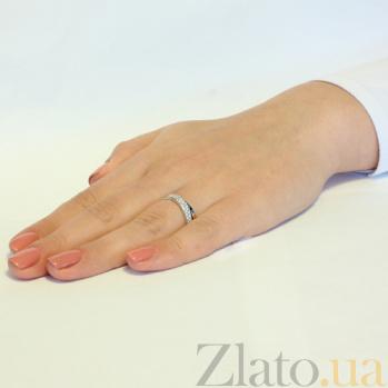 Кольцо из белого золота Эсмеральда с белыми фианитами SUF--140323б