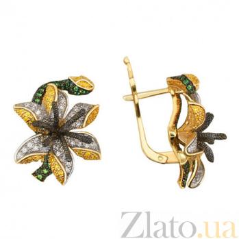 Серьги из желтого золота Лилия VLT--ТТ2233-1