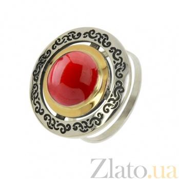 Серебряное кольцо с кораллом Джоконда BGS--512/к коралл