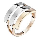 Кольцо Оптикс в белом и желтом золоте