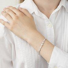 Серебряный браслет Сон в летнюю ночь с белыми фианитами