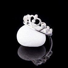 Серебряное кольцо Тиара с фианитами