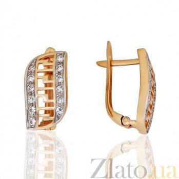 Золотые серьги Гарсия EDM--С0149