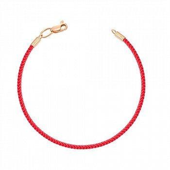 Браслет из красного золота и синтетического шнурка 000150063
