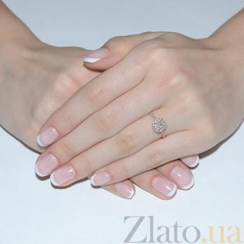 Золотое кольцо с топазом и фианитами Луиза 3523352