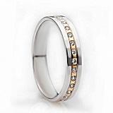 Золотое обручальное кольцо Eternal love