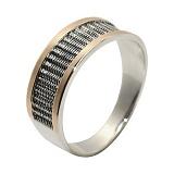 Кольцо из серебра с золотом След