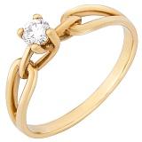 Золотое кольцо Тамилла в желтом цвете с бриллиантом