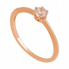 Золотое кольцо с фианитом Муза души