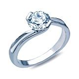 Серебряное кольцо с фианитом Нежное чувство