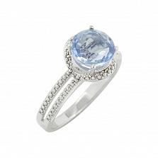 Серебряное кольцо с флюоритом Неоновый свет