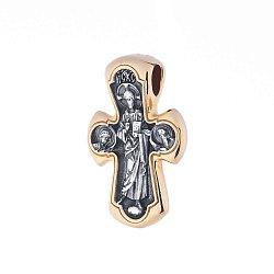 Серебряный крестик с позолотой 000062543