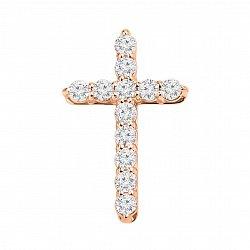 Золотой крестик Вера с кристаллами Swarovski