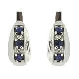 Серебряные сережки Рита с сапфирами и бриллиантами