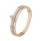 Золотое кольцо с бриллиантами Вдохновение