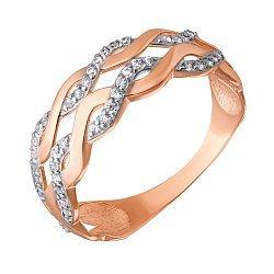 Кольцо в красном золоте Софи с фианитами
