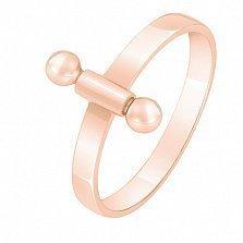 Золотое кольцо в красном цвете Внутренний стержень