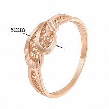 Золотое кольцо с алмазной гранью Аелла
