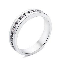 Кольцо из белого золота с бриллиантами и родированием 000131438