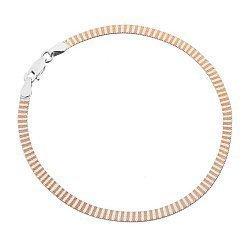 Серебряный браслет с позолотой 000027372