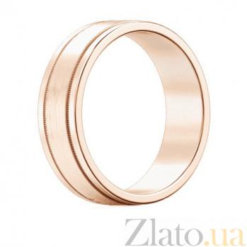 Мужское обручальное кольцо из розового золота Феерия нежности 407