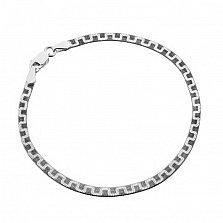 Серебряный браслет Джафари с чернением, 3,5 мм