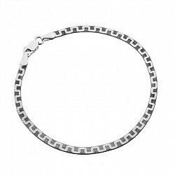 Серебряный браслет с чернением, 3,5 мм 000026370