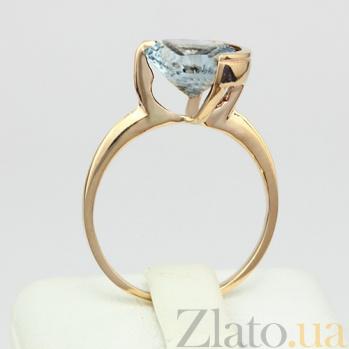 Золотое кольцо с голубым топазом Клэр 000024500