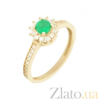 Золотое кольцо с агатом и фианитами Бриана 2К480-0040