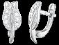 Серебряные сережки с фианитами Сладкий ноябрь 000024674