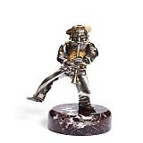 Серебряная статуэтка с позолотой Флейтист